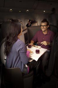 Dinner Air New Zealand ©Air New Zealand