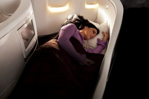 Sleeping at Business Premier - Air New Zealand ©Air New Zealand